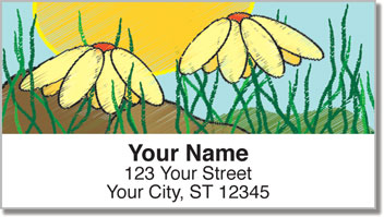 Rock Flower Address Labels
