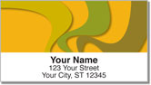 Abstract Orange Address Labels