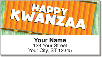 Kwanzaa Address Labels