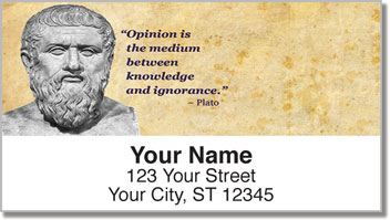 Greek Philosopher Address Labels