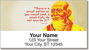 Chinese Philosopher Address Labels