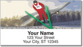 Ski Jumper Address Labels