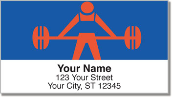 Weightlifting Address Labels
