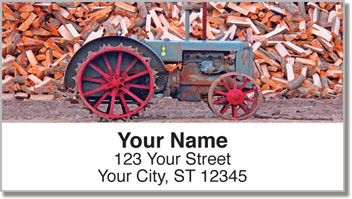 Old Fashioned Farm Address Labels