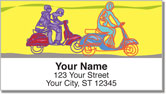 Motor Scooter Address Labels