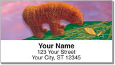Fuzzy Bear Address Labels