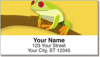 Red-Eyed Frog Address Labels