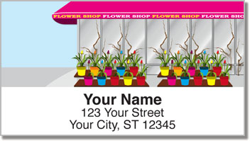 Flower Shop Address Labels