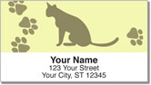 Paw Print Address Labels
