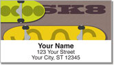 Skateboarding Address Labels