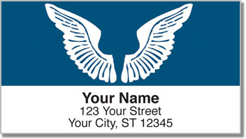 Angel Wings Address Labels