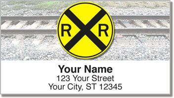 Railroad Crossing Address Labels
