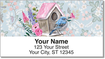 Fancy Birdhouse Address Labels