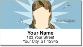 Cool Hairstyle Address Labels
