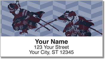 Ninja & Samurai Address Labels