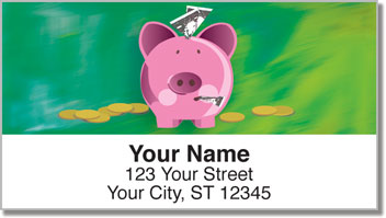 Piggy Bank Address Labels