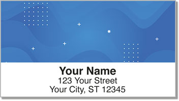 Studies in Blue Address Labels