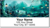 Halloween Graveyard Address Labels