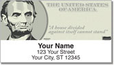 Abraham Lincoln Address Labels
