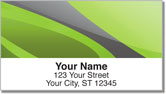 Gray Swoosh Address Labels
