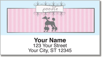 Pink Poodle Address Labels