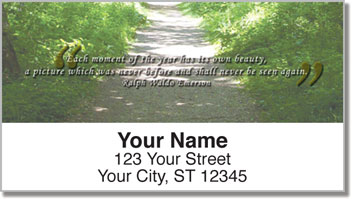 Nature Quotation Address Labels