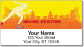 Inline Skating Address Labels