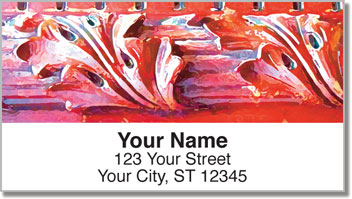 Carved Detail Address Labels