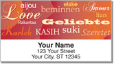 Foreign Language Address Labels