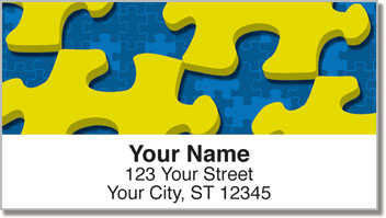 Jigsaw Puzzle Address Labels