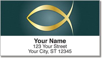 Christian Symbol Address Labels
