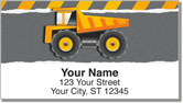 Construction Truck Address Labels
