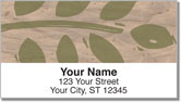 Painted Leaf Address Labels