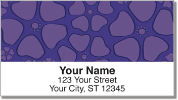 Petal Pattern Address Labels