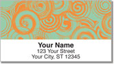 Two-Tone Twirl Address Labels