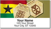 Adinkra Address Labels