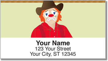 Rodeo Clown Address Labels