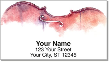 Violin Address Labels
