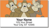 No Evil Monkey Address Labels
