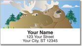 Moose & Bear Address Labels