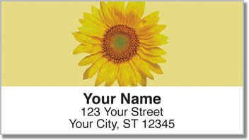 Artistic Sunflower Address Labels