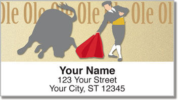 Spanish Bullfight Address Labels