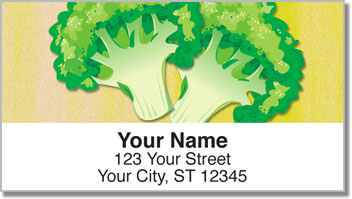 Green Veggie Address Labels