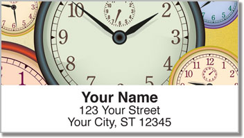 Clock Face Address Labels