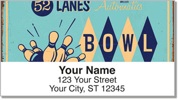 Bowling Alley Address Labels