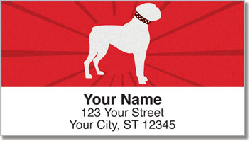 Boxer Dog Address Labels