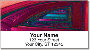 Winding Stairwell Address Labels