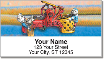 Antique Bank Address Labels