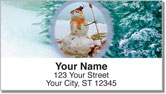 Silly Snowman Address Labels