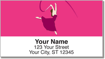 Ribbon Dancing Address Labels